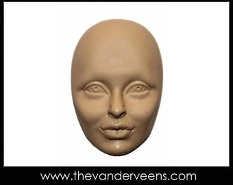 Mold No.194 (Face-Cheekbone with thick lips) by Veronica jeong