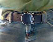 Circle Belt Buckle by WATTO Distinctive Metal Wear / Round Metal Buckle / Belt Buckle for Him/ Belt Buckles For Women/Cool Belt Buckle/Metal