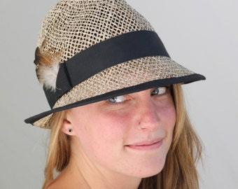 Sam, seagrass millinery hat, ladies straw fedora
