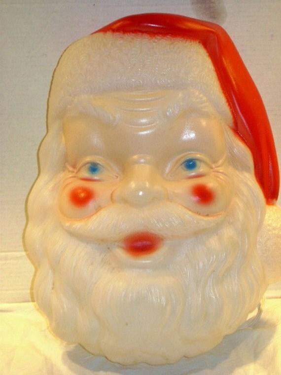 Vintage Santa Face Empire Blow Mold Mid Century Outdoor