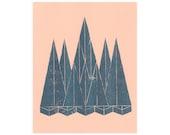 Landscape (3) - Risograph Print
