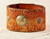 Distressed Leather Jewelry Vintage Handmade Accessories Cuffs Bracelets Wristbands