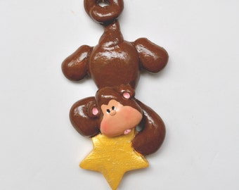 Personalized Monkey Christmas Ornament