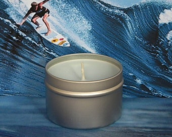 HEY DUDE Scented Soy Candle - Marine Mint & Musk Candles- Compare to Davidoff Cool Water
