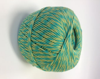300 Yards - Heavy 10 ply Bakers Twine - Full Spool - Chartreuse and Aqua
