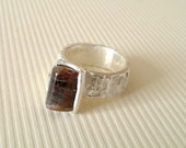 Tourmaline Ring Sterling Silver Ring With Natural Tourmaline No 4 // Made In Your Size