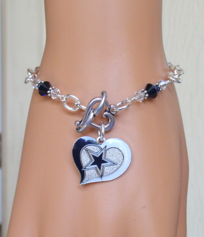 dallas cowboys bracelet cowboys bling i want to be your. Black Bedroom Furniture Sets. Home Design Ideas