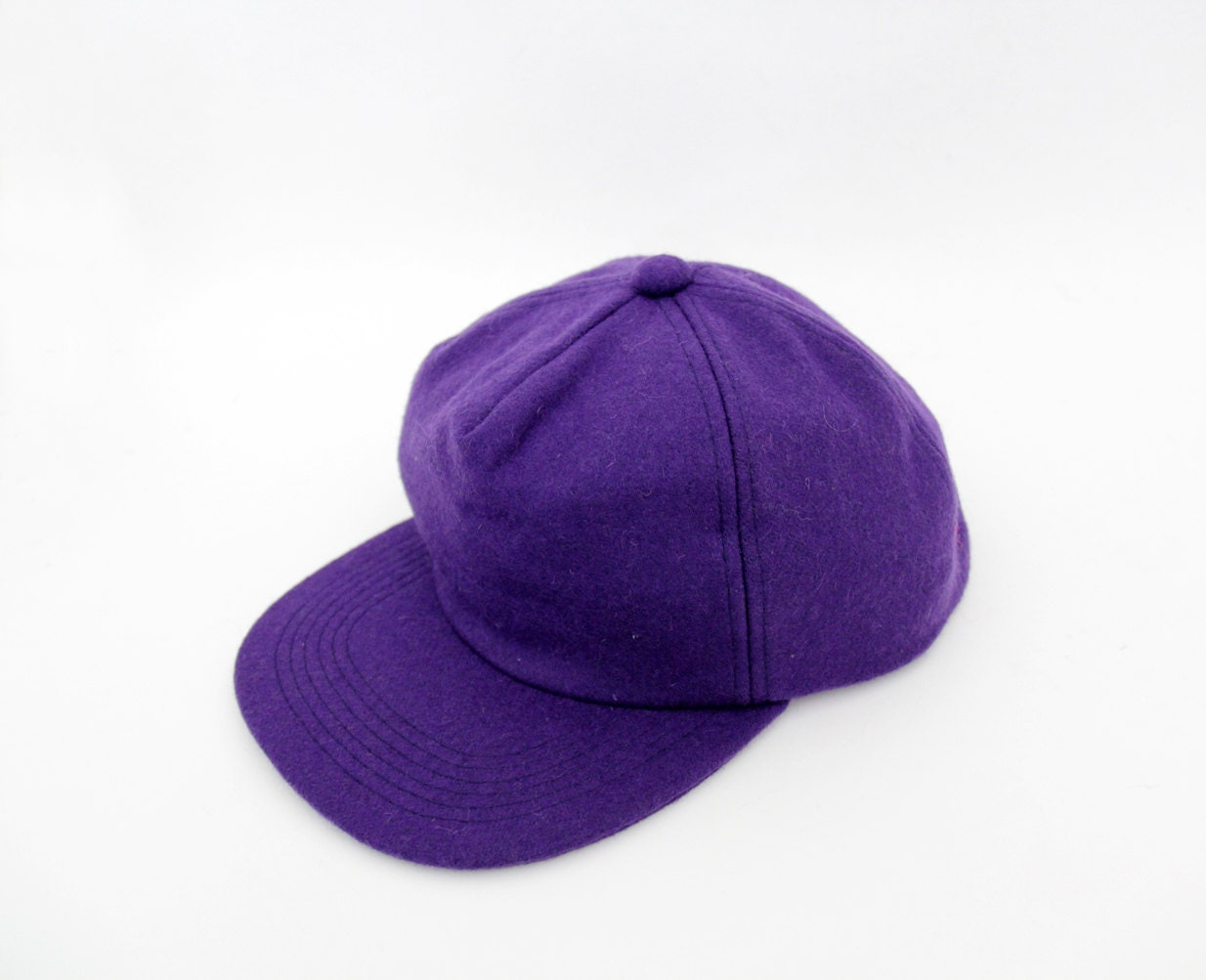vintage hat purple wool baseball hat by nemres on etsy