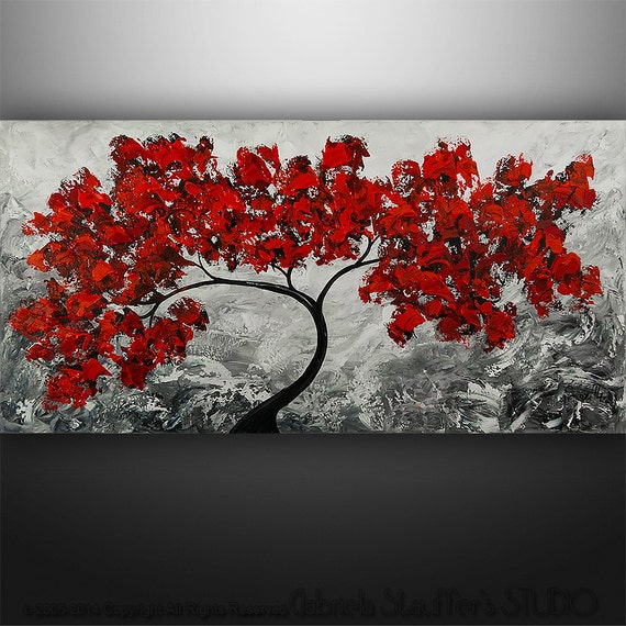 Abstract Painting Original Acrylic Modern Landscape Tree