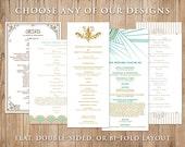 Digital Printable Wedding Program - Choose Any Design