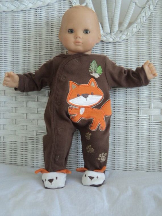 Bitty Baby Boy Cute Fox Footed Pajamas