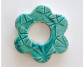 ADORABLE AQUA Flower Tile