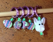 Easter themed stitch markers - set of 5 markers