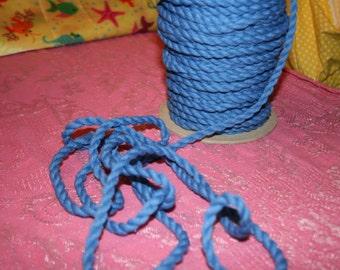 1/4 inch blue rope trim