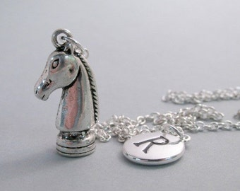 Knight Chess Piece Charm Silver Plated Charm Charm Supplies