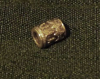 Reduced! Barrel-Shaped Large Hole Bead - for European Bracelets - 925 Silver - Intricate Engraving - FREE Shipping