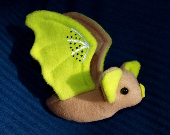 Fruit Bat Plushie - Kiwi Bat