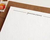 Personalized Stationery - Custom Letterpress - 1color