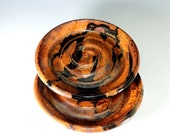 Dipping Dish Set of 2 in Copper Lava Glaze / Serving / Dining / Food Prep / Stoneware Pottery / Spoon Rest