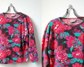 Gia Italian Floral Sweater / Wool and Rabbit Hair Sweater