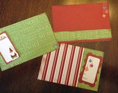 Scrapbook Title Journal Card  Kit Christmas Premade 12x12 Pages Layout