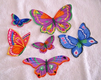 Colorful BUTTERFLY  fabric appliques #105