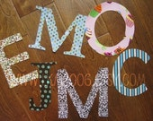 Monogram Letter Iron On Applique, You Choose Fabric
