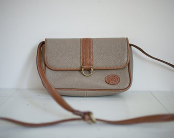 Vintage Liz Claiborne Khaki and Brown Leather Purse
