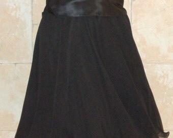 Black Camisole and Blacktie Oleg Cassini Black Skirt