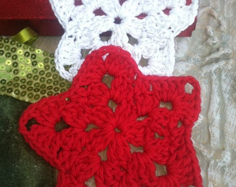 Coasters / Ornaments / Star Coaster / Star Ornament / Crochet Star Coaster / Crochet Star Ornament