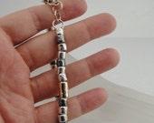 Handmade Modern Art 14k Gold Fill Silver Bracelet (I b86)