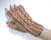 KNITTING PATTERN - Amberley Cabled Fingerless Gloves - Knitted on 2 Needles -Size Medium - Adult/Teens - Permission to sell finished product
