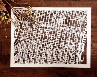 philadelphia hand cut map