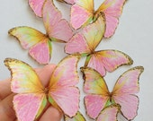 42 Blushing Glamour in Pink - Pink Butterfly Embellishments - Shower Decorations - 3D edible butterflies by Uniqdots on Etsy