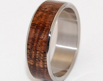 wedding rings, titanium rings, wood rings, mens rings, womens ring, Titanium Wedding Bands, Eco-Friendly Rings - HIDDEN FOREST