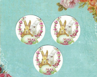 Stickers, Easter Rabbit, Florals, Sticker Seals, Bunny Rabbits