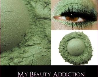 Clearance-Mineral Eyeshadow 'Forest' Green  Eye Shadow