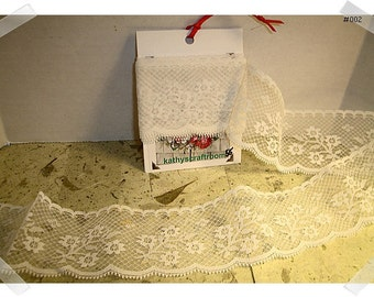Lace Trim/Wide Soft White Color/ 2 yards/ Craft Supplies (#002)*