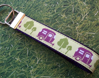 Camper Keychain / Fob Wristlet Style