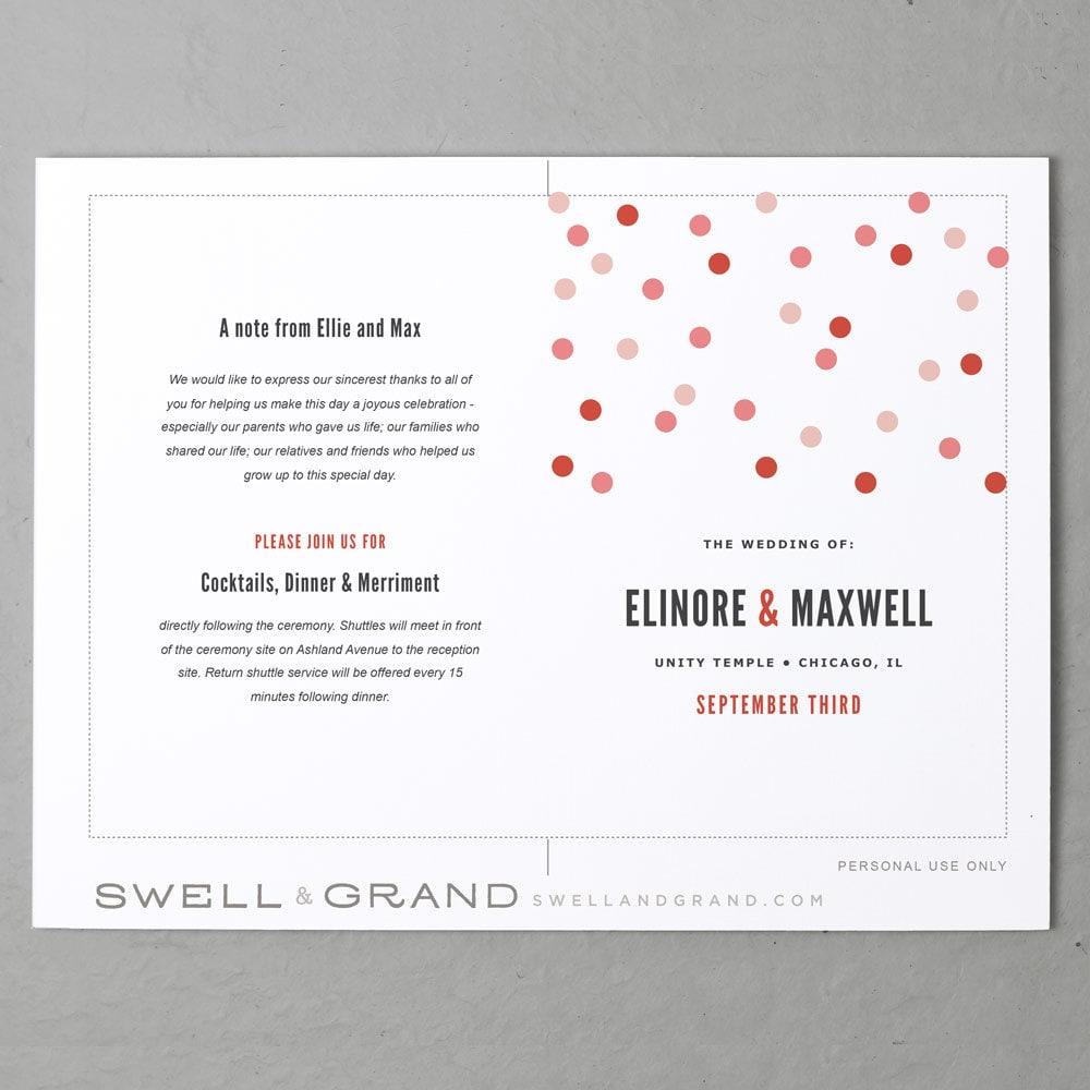wedding programs templates free download