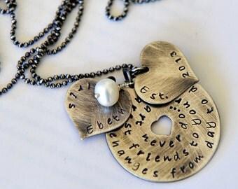 Friendship Necklace, Girlfriend Gift, Best Friends Jewelry, 50th Birthday Gift, Personalized Best Friend Gift