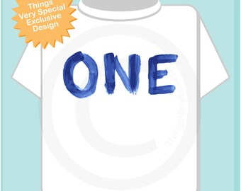 Birthday Shirt, One Year Old Birthday, Blue Birthday Shirt, Personalized Birthday Boy Design Tee or Onesie (05022014g)