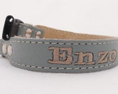 Personalized Leather Dog Collar. Five eighths inch width by Ruggit Collars Monogrammed Toy dogs.