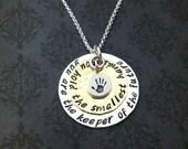 Hand gestempelt Schmuck - Personalisierte Halskette - Lehrer Halskette - Sommercamps Anbieter Halskette - Nanny Gift