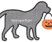 349 Halloween Dog Machine Embroidery Applique Design