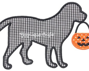 349 Halloween Dog Machine Embroidery Applique Design