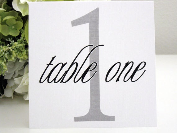Wedding Table Numbers--Reception--The Starlight Collection--Tent Style--Customize--Colors Can Be Changed