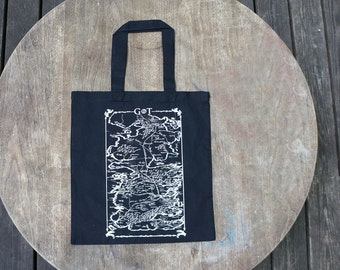 Game of Thrones Map of Westeros Black Tote Bag