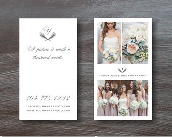 Photography Templates - INSTANT DOWNLOAD Vertical Business Card Template for Wedding Photographers - Photography Business Cards