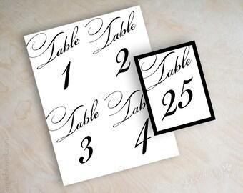 Number Names Worksheets free printable table number templates : Wedding table numbers - deals on 1001 Blocks